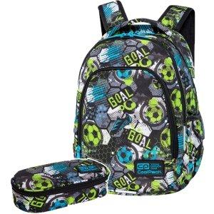 ZESTAW  2 el. Plecak wczesnoszkolny CoolPack PRIME 23 L piłka nożna, FOOTBALL (C25230SET2CZ)