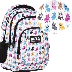 Plecak szkolny młodzieżowy BackUP 26 L BULDOGI (PLB4A08)