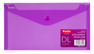 Teczka koperta transparentna na dokumenty DL PATIO fioletowa (PAT3153/N/12)