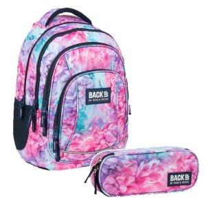 ZESTAW 2 el. Plecak szkolny młodzieżowy BackUP 26 L pastelowy, SOFT (PLB3A02SET2CZ)