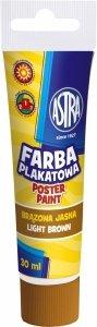 Farba plakatowa w tubie 30 ml brązowa jasna ASTRA (83110912)