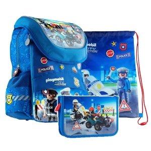 ZESTAW 3 el. Plecak dziecięcy PLAYMOBIL Policjant PL-11 (502020091SET3CZ)