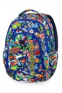 Plecak CoolPack STRIKE L  w kolorową kreskówkę, FOOTBALL CARTOON (B18036)