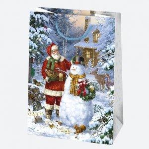 Torba torebka na prezent świąteczna MIKOŁAJ mix (T5_GW_58)