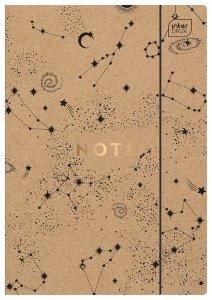 Teczka rysunkowa A4 KRAFT z gumką Kosmos EKO (93893)