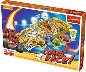 Gra planszowa Blaze i mega maszyny, COMIC RACE Trefl (01480)