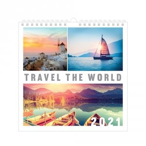 Kalendarz ścienny planszowy PODRÓŻE 2021 (72782)
