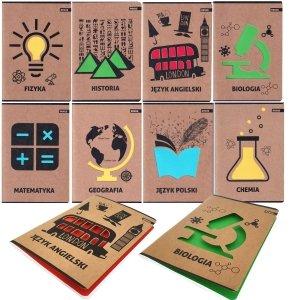 Zeszyt tematyczny 8 przedmiotów A5 60 kartek EKO (ZEST8EL)