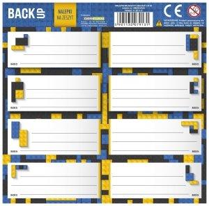 Nalepki na zeszyty BackUP klocki, BRICKS (NNZB3A52)