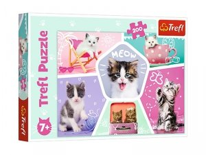 TREFL Puzzle 200 el. CATS Kocie figle (13247)