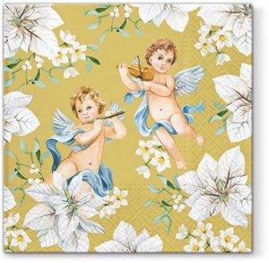 Serwetki dekoracyjne Angels In Flowers ANIOŁKI 33x33 cm (SDL015109)