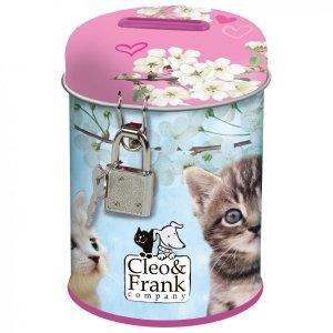 Skarbonka z kłódką CLEO & FRANK Kot Kotki (SKCF32)