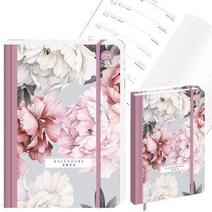 Kalendarz książkowy A5 PEONIE Kwiaty 2022 (00270)