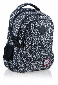 Plecak szkolny HASH 27 L czarny kamień, BLACK TERRAZZO (502020045)