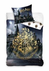 ZESTAW 2 el. Pościel bawełniana 140 x 200 cm + PODUSZKA Harry Potter (HP202019SET2CZ)