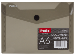 Teczka koperta transparentna na dokumenty A6 PATIO  grafitowa (PAT6133A/N/11)