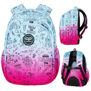 Plecak wczesnoszkolny CoolPack JERRY 21 L różowe ombre, PINK SCRIBBLE (D029340)