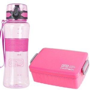 Zestaw bidon TRITANUM 550 ml i śniadaniówka CoolPack SNACK różowy (93439CP+67546CP)