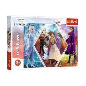 TREFL Puzzle 200 el. Kraina Lodu 2 Frozen, Siostry w Karinie Lodu (13249)