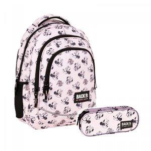 ZESTAW 2 el. Plecak szkolny młodzieżowy BackUP 26 L Myszka Minnie, MINNIE PASTELLE (PLB4X39SET2CZ)