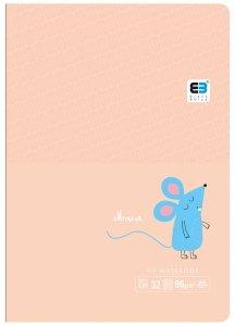 Zeszyt A5 w kratkę 16 kartek B&B MAUSE myszka (55549)