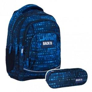 ZESTAW  2 el. Plecak szkolny młodzieżowy BackUP 26 L liczby, NUMBERS (PLB4A55SET2CZ)