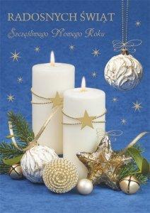Kartka świąteczna BOŻE NARODZENIE 12 x 17 cm + koperta (47524)