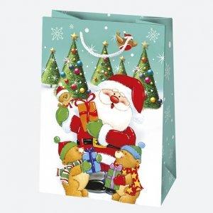 Torba torebka na prezent świąteczna MIKOŁAJ mix (T5_GW_65)