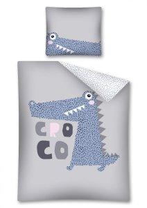 Pościel bawełniana CROCODILE  Krokodyl 160 x 200 cm komplet pościeli (2988)