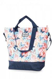 TORBA CoolPack SOHO torebka na ramię w kwiaty i motyle, BUTTERFLIES (B51127)