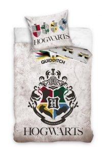 ZESTAW 3 el. Pościel bawełniana 140 x 200 cm + RĘCZNIK + PODUSZKA Harry Potter (HP191061SET3CZ)