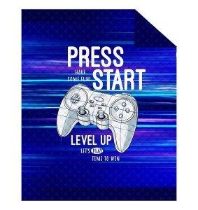 Narzuta dziecięca na łóżko GAME Pady Press Start 170 x 210 cm (K028)
