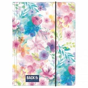 Teczka rysunkowa A4 z gumką BackUP kwiaty, WIOSENNY (TGA4B4A18)
