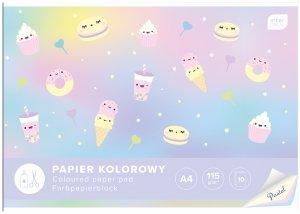 Zeszyt papierów kolorowych pastelowych A4 PASTEL Interdruk mix (94166)