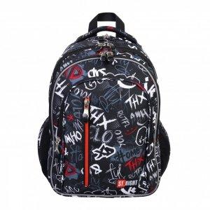 Plecak szkolny młodzieżowy ST.RIGHT SLANG GRAFFITI BP68 (38428)