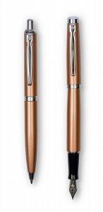 Komplet Zenith 60 Elegance Pióro wieczne + Długopis, kolor miedziany (7600204)