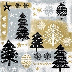 Serwetki dekoracyjne Christmas Tree CHOINKA 33x33 cm (SDL014209)