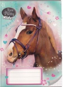 Zeszyt A5 w kolorową linię 16 kartek NICE AND PRETTY Konie HORSES mix (94616)