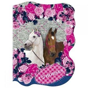 Notes kształtowy A6 KONIE Horses  (NKA6KO08)