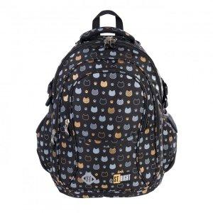 Plecak szkolny młodzieżowy ST.RIGHT złote kotki, GOLDEN CATS BP1 (38176)