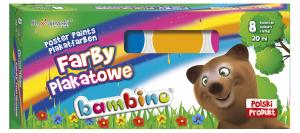 Farby plakatowe BAMBINO 8 kolorów (04995)