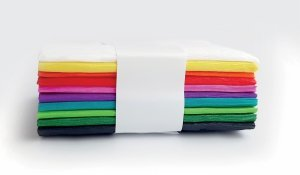 Bibuła marszczona KOSTKA 10x200 cm PAKIET 10 kolorów (19985)