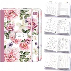Kalendarz szkolny 2021/2022 A5 kalendarz ucznia FLOWER Kwiaty (09887)