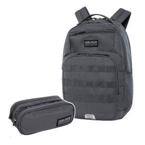 ZESTAW 2 el. Plecak CoolPack ARMY 27 L szary, GREY (C39256SET2CZ)