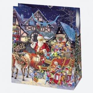 Torba torebka na prezent świąteczna MIKOŁAJ mix (T4_GW_47)