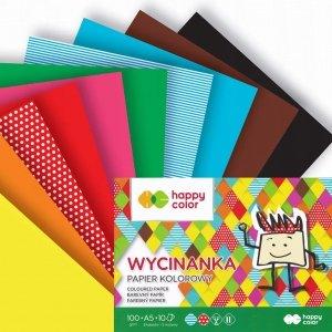 Papier kolorowy wycinanka A5 HAPPY COLOR (39492)