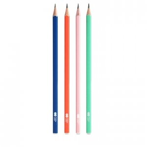 4 x Ołówek kwadratowy TREND HB HAPPY COLOR (42874)