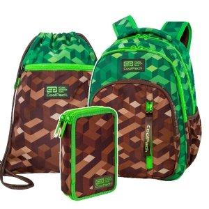 ZESTAW 3 el. Plecak CoolPack BASE 27 L miejska dżungla, CITY JUNGLE (C27199SET3CZ)