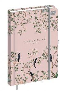 Kalendarz książkowy A5 PTAKI 2021 (92841)