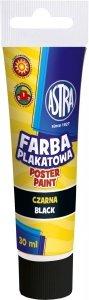 Farba plakatowa w tubie 30 ml czarna ASTRA (83110909)